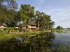 Jacana Camp, safari camp located on an island surrounded by floodplain, beautiful views of Okavango Delta, papyrus swamps, Botswana, Africa safari