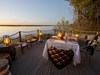 Duma Tau Camp, private intimate dining area, perfect for special occasions, cozy secluded table with comfortable ajoining chairs, Botswana, Africa