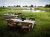 Duba Expedition Camp bush breakfast in the Okavango Delta