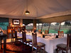 Duba Expedition Camp dining tent overlooking the Okavango Delta
