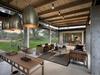 Industrial modern indoor outdoor living space hammered brass pendant light fixtures safari style