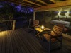 Khalahari Plains Camp, sizeable private deck with personal viewing chairs, extensive screening protection for bedroom, giant bedroom area, Botswana