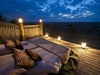Khalahari Plains Camp, perfectly sized outdoor bed for sleeping under the magnificent stars, safely enclosed by railing and on a raised platform
