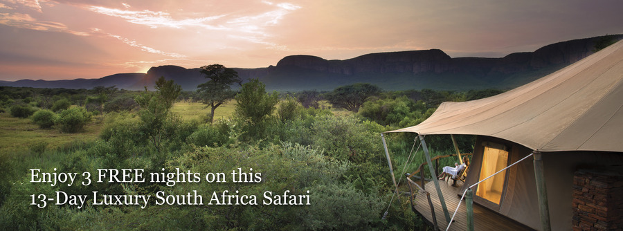 Marataba Safari Lodge scenic view of the Waterberg Mountains in South Africa